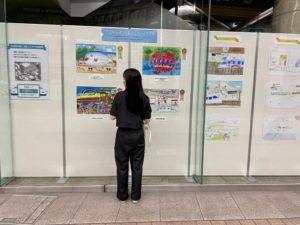 四国新幹線絵画コンクール受賞絵画を高知大丸に展示!